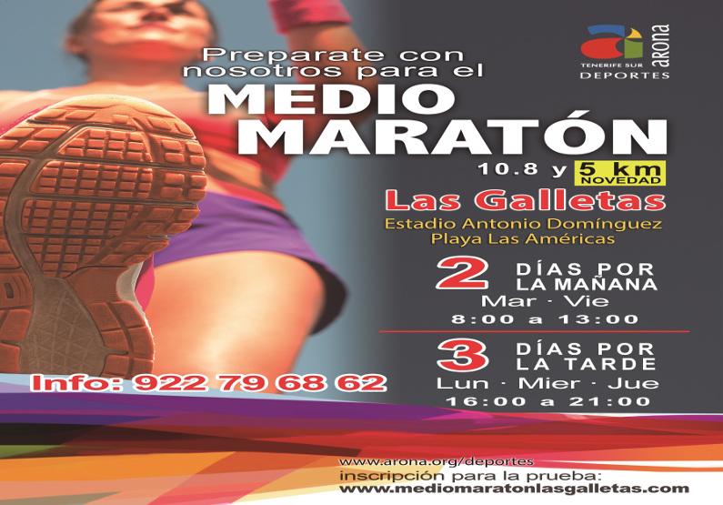 Prepara con #Aronadeportes el Medio Maratón de Las Galletas 2018.